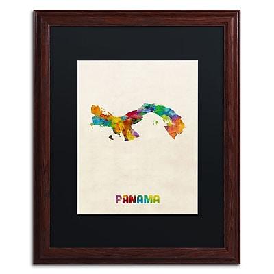 Trademark Fine Art ''Panama Watercolor Map'' by Michael Tompsett 16
