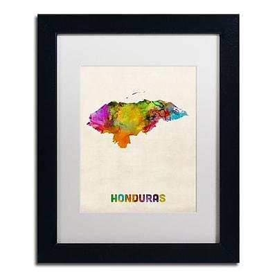 Trademark Fine Art ''Honduras Watercolor Map'' by Michael Tompsett 11