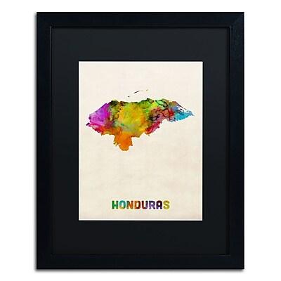 Trademark Fine Art ''Honduras Watercolor Map'' by Michael Tompsett 16