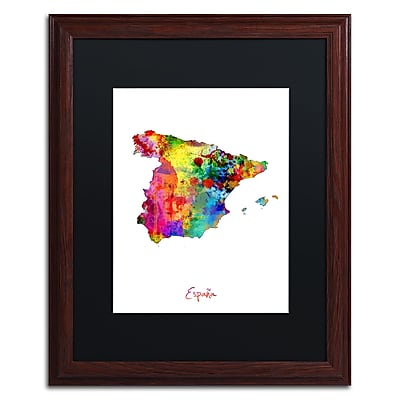 Trademark Fine Art ''Spain Watercolor Map'' by Michael Tompsett 16