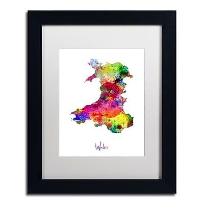 Trademark Fine Art ''Wales Watercolor Map'' by Michael Tompsett 11