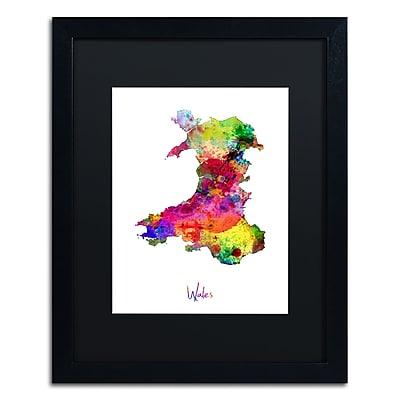 Trademark Fine Art ''Wales Watercolor Map'' by Michael Tompsett 16