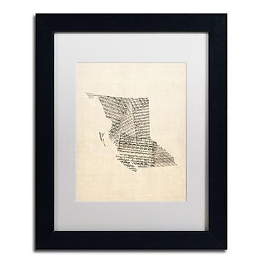 Trademark Fine Art ''Sheet Music Map British Columbia'' by Michael Tompsett 11