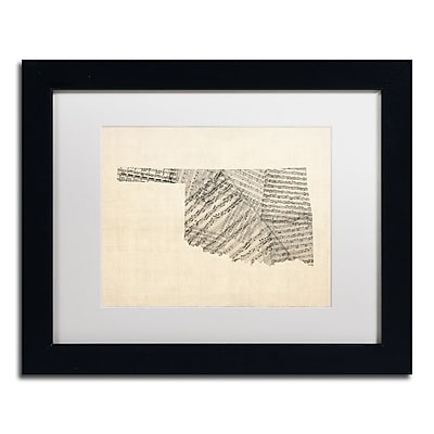 Trademark Fine Art ''Old Sheet Music Map of Oklahoma'' by Michael Tompsett 11