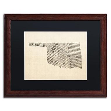 Trademark Fine Art ''Old Sheet Music Map of Oklahoma'' by Michael Tompsett 16