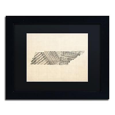 Trademark Fine Art ''Old Sheet Music Map of Tennessee'' by Michael Tompsett 11