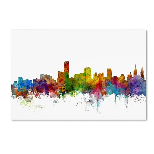 "Trademark Fine Art ''Adelaide Australia Skyline'' by Michael Tompsett 22"" x 32"" Canvas Art (MT0759-C2232GG)"