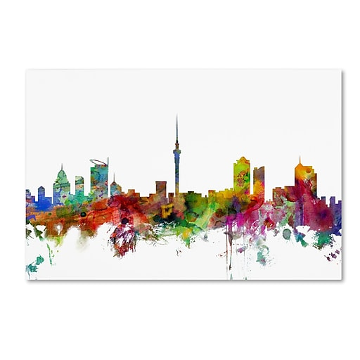 "Trademark Fine Art ''Auckland New Zealand Skyline'' by Michael Tompsett 22"" x 32"" Canvas Art (MT0761-C2232GG)"