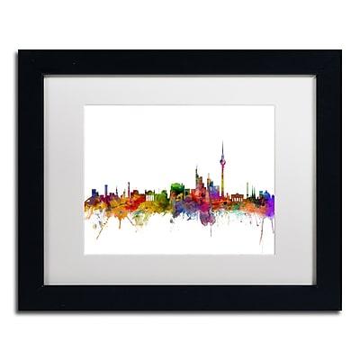 "Trademark Fine Art ''Berlin Germany Skyline III'' by Michael Tompsett 11"" x 14"" Black Frame (MT0764-B1114MF)"