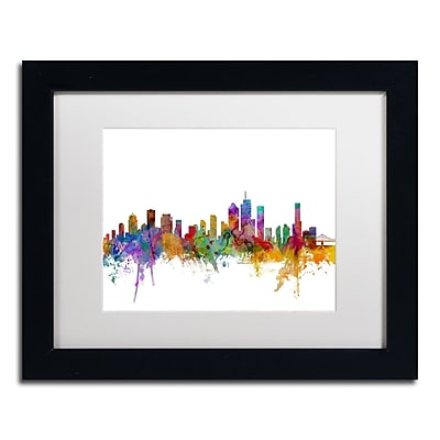 Trademark Fine Art ''Brisbane Australia Skyline'' by Michael Tompsett 11