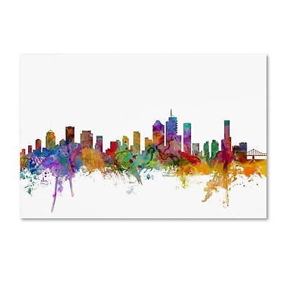 Trademark Fine Art ''Brisbane Australia Skyline'' by Michael Tompsett 22