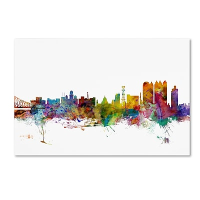 Trademark Fine Art ''Calcutta India Skyline'' by Michael Tompsett 30