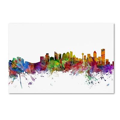 Trademark Fine Art ''Calgary Canada Skyline'' by Michael Tompsett 22