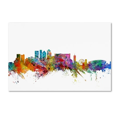 Trademark Fine Art ''Cape Town South Africa Skyline'' by Michael Tompsett 16