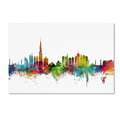 Trademark Fine Art ''Dubai Skyline'' by Michael Tompsett 16