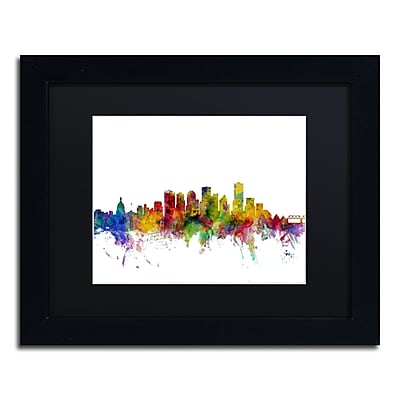 Trademark Fine Art ''Edmonton Canada Skyline'' by Michael Tompsett 11