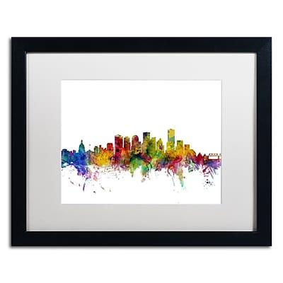 Trademark Fine Art ''Edmonton Canada Skyline'' by Michael Tompsett 16