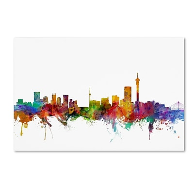 Trademark Fine Art ''Johannesburg South Africa Skyline'' by Michael Tompsett 16