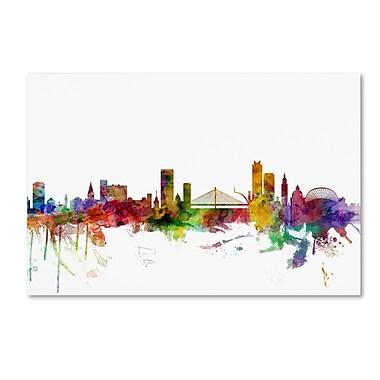 Trademark Fine Art ''Liege Belgium Skyline'' by Michael Tompsett 30