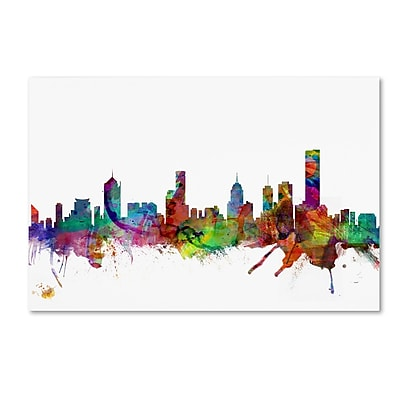 Trademark Fine Art ''Melbourne Skyline'' by Michael Tompsett 22