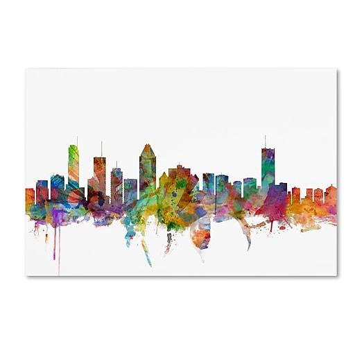 "Trademark Fine Art ''Montreal Canada Skyline'' by Michael Tompsett 16"" x 24"" Canvas Art (MT0777-C1624GG)"