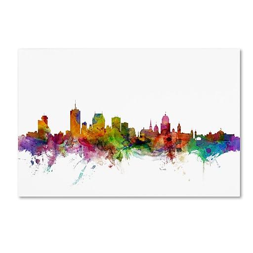 "Trademark Fine Art ''Quebec Canada Skyline'' by Michael Tompsett 12"" x 19"" Canvas Art (MT0782-C1219GG)"