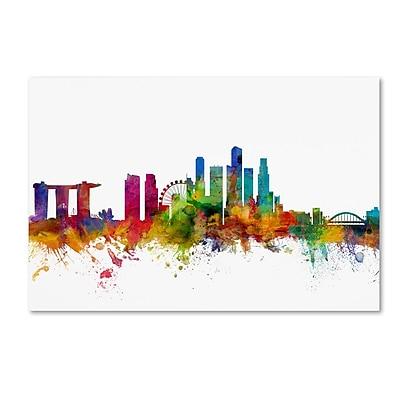 Trademark Fine Art ''Singapore Skyline'' by Michael Tompsett 12
