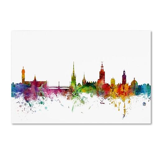"Trademark Fine Art ''Stockholm Sweden Skyline'' by Michael Tompsett 22"" x 32"" Canvas Art (MT0784-C2232GG)"