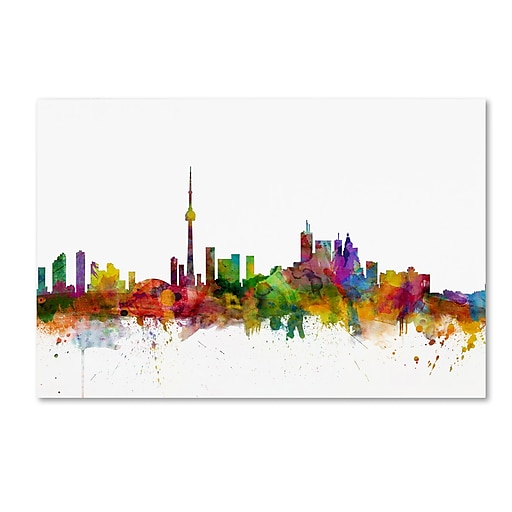 "Trademark Fine Art ''Toronto Canada Skyline'' by Michael Tompsett 30"" x 47"" Canvas Art (MT0787-C3047GG)"