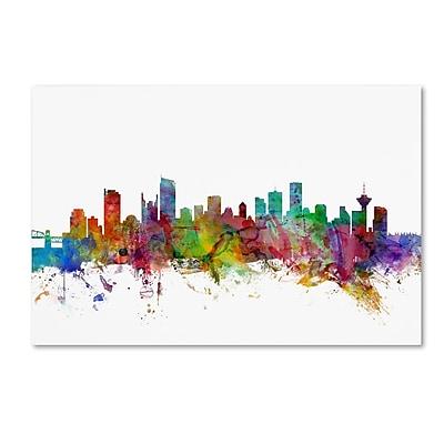 Trademark Fine Art ''Vancouver Canada Skyline'' by Michael Tompsett 12