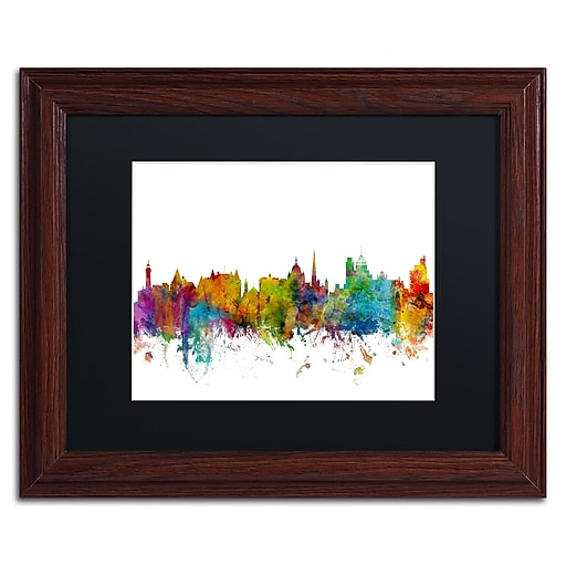 "Trademark Fine Art ''Victoria Canada Skyline II'' by Michael Tompsett 11"" x 14""Wood Frame (MT0789-W1114BMF)"