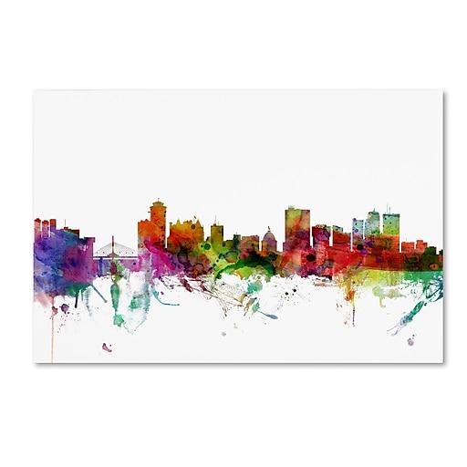 "Trademark Fine Art ''Winnipeg Canada Skyline'' by Michael Tompsett 16"" x 24"" Canvas Art (MT0791-C1624GG)"