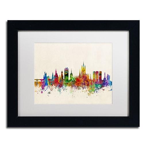 "Trademark Fine Art ''Aberdeen Scotland Skyline'' by Michael Tompsett 11"" x 14"" Black Frame (MT0793-B1114MF)"