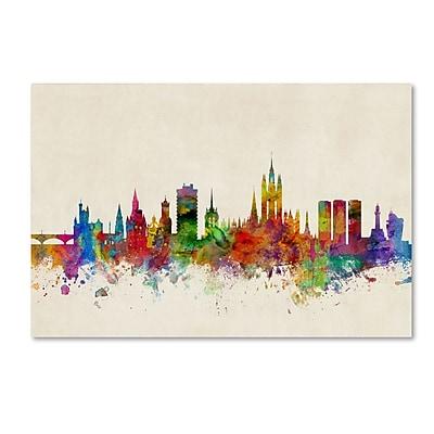 Trademark Fine Art ''Aberdeen Scotland Skyline'' by Michael Tompsett 30