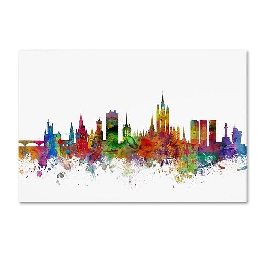"""Trademark Fine Art ''Aberdeen Scotland Skyline'' by Michael Tompsett 30"""" x 47"""" Canvas Art (MT0794-C3047GG)"""