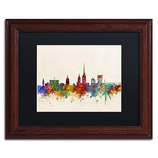 "Trademark Fine Art ''Norwich England Skyline'' by Michael Tompsett 11"" x 14""Wood Frame (MT0795-W1114BMF)"