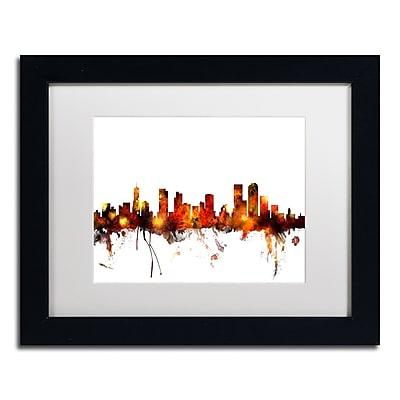 Trademark Fine Art ''Denver Colorado Skyline II'' by Michael Tompsett 11