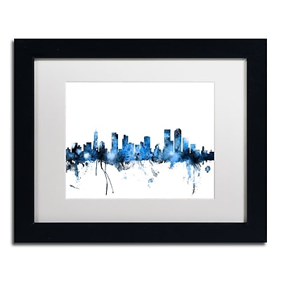 Trademark Fine Art ''Denver Colorado Skyline III'' by Michael Tompsett 11