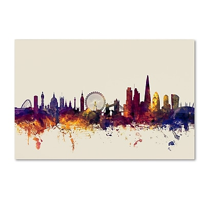 Trademark Fine Art ''London England Skyline'' by Michael Tompsett 30