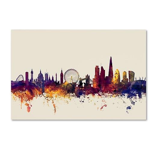 "Trademark Fine Art ''London England Skyline'' by Michael Tompsett 22"" x 32"" Canvas Art (MT0802-C2232GG)"