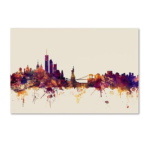 "Trademark Fine Art ''New York Skyline'' by Michael Tompsett 16"" x 24"" Canvas Art (MT0804-C1624GG)"