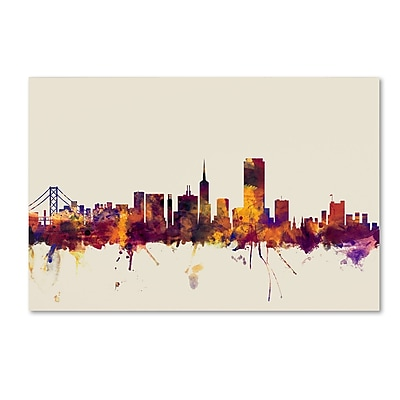 Trademark Fine Art ''San Francisco City Skyline'' by Michael Tompsett 16