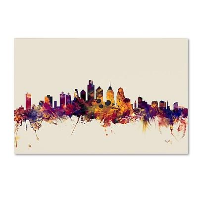 Trademark Fine Art ''Philadelphia Pennsylvania Skyline'' by Michael Tompsett 22