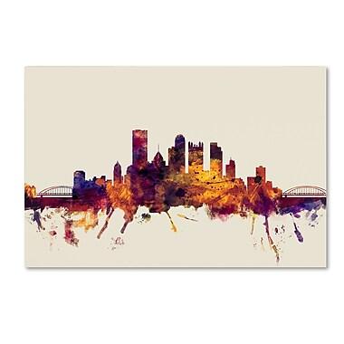 Trademark Fine Art ''Pittsburgh Pennsylvania Skyline'' by Michael Tompsett 30
