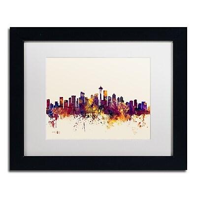 Trademark Fine Art ''Seattle Washington Skyline IV'' by Michael Tompsett 11