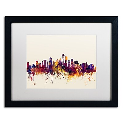Trademark Fine Art ''Seattle Washington Skyline IV'' by Michael Tompsett 16