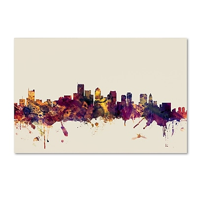 Trademark Fine Art ''Boston Massachusetts Skyline'' by Michael Tompsett 30
