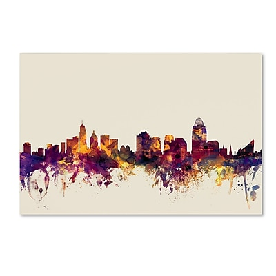 Trademark Fine Art ''Cincinnati Ohio Skyline'' by Michael Tompsett 16