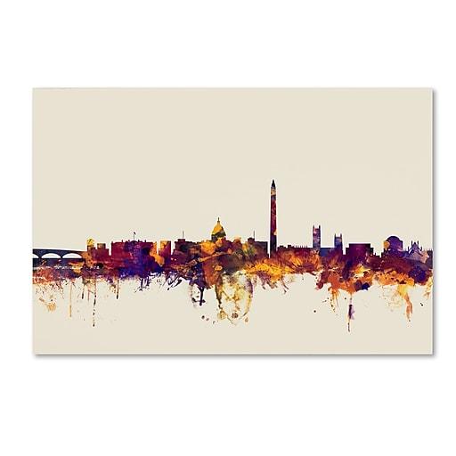 "Trademark Fine Art ''Washington DC Skyline'' by Michael Tompsett 12"" x 19"" Canvas Art (MT0813-C1219GG)"