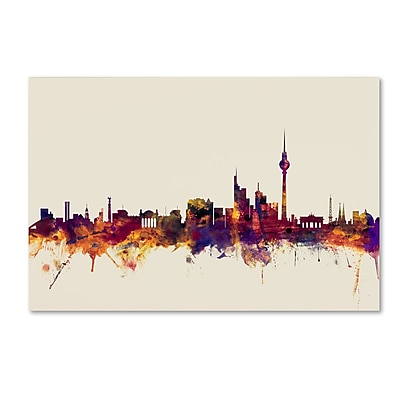 Trademark Fine Art ''Berlin Germany Skyline'' by Michael Tompsett 30